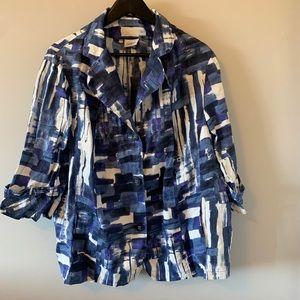 Blue / 3/4 sleeve / Button Down